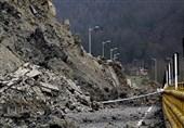 جاده کوهستانی بازفت - تاراز کوهرنگ در چهارمحال و بختیاری دچار رانش شد