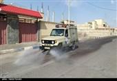 اهواز|قرارگاه کربلا سپاه خوزستان مناطق آلوده اهواز را ضدعفونی میکند