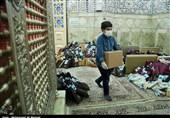 بستهبندی و توزیع بستههای اقلام غذایی و بهداشتی در میان نیازمندان قم+تصاویر