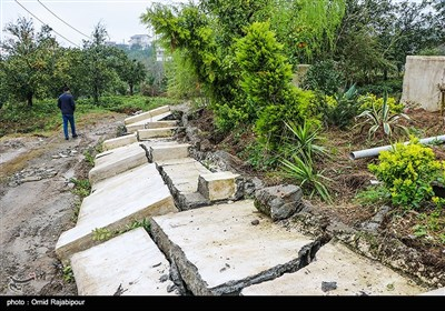 رانش زمین در روستای بازنشین سفلی رحیم آباد-گیلان
