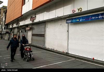 خلوتی اماکن عمومی ، بازار و خیابانهای تهران در روزهای شیوع کرونا