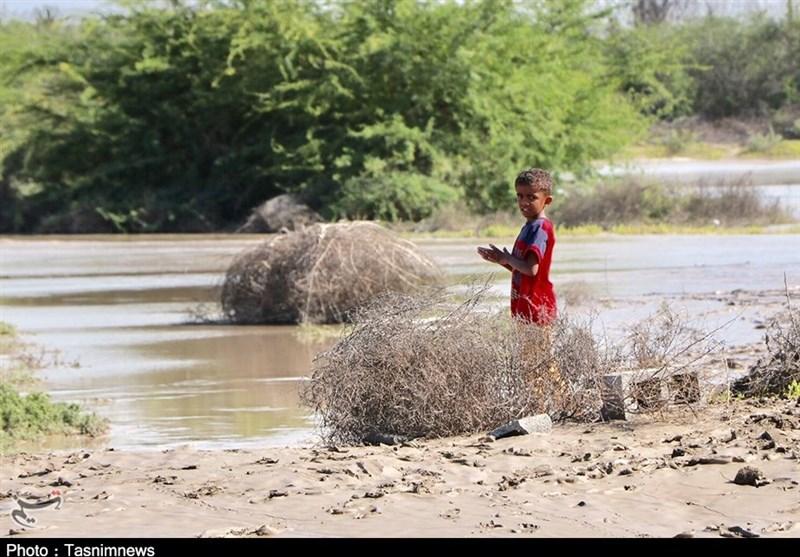 روستای تنبک پایین میناب پس از سیل به روایت تصویر