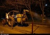 گندزدایی فضاهای عمومی مشهد به صورت شبانهروزی انجام میشود