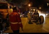 رزمایش ضدعفونی معابر و خیابانهای قلعه چنعان + فیلم