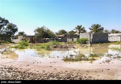 روستای تمبک پایین میناب پس از سیل