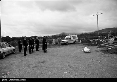 دفن بیماران مبتلا به کرونا در بهشهر