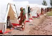 اسکان موقت سیلزدگان در روستای تکلحسن رودبارجنوب به روایت تصویر