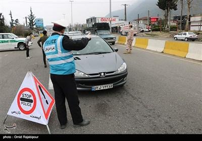 جلوگیری از ورود خودروهای غیر بومی و مسافران در چابکسر گیلان