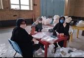 روایتی از فعالیت زنان جهادگر کهگیلویه و بویراحمد در تولید ماسک+ تصاویر