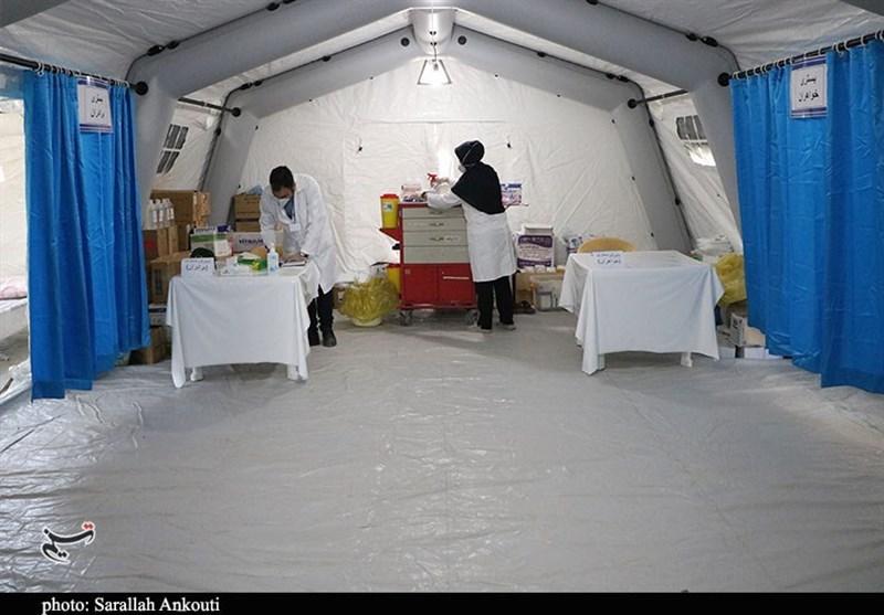 بیش از 60 درصد تختهای بیمارستان صحرایی اصفهان اشغال شد