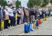 ضدعفونی مناطق محروم کرج توسط قرارگاه پدافند زیستی سپاه + تصاویر