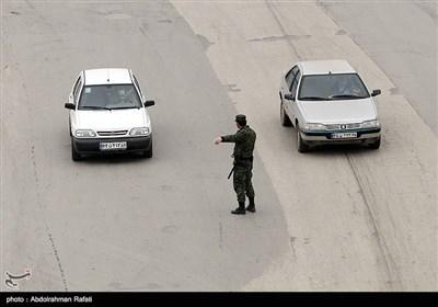 اجرای طرح فاصله گذاری اجتماعی و محدودیتهای ترافیکی در همدان