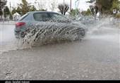بارندگی و آبگرفتگی معابر شهر کرمان به روایت تصویر