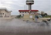 رزمایش دفاع بیولوژیک شهدای مدافع سلامت سپاه در فرودگاه گرگان+تصاویر