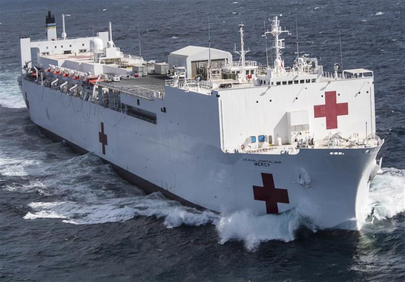 کرونا| ورود کشتی بیمارستانی ارتش آمریکا به نیویورکِ بحرانزده