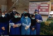 گزارش ویدیوئی تسنیم از تبرک پرچم امام رضا توسط بیماران کرونایی شهر خوی