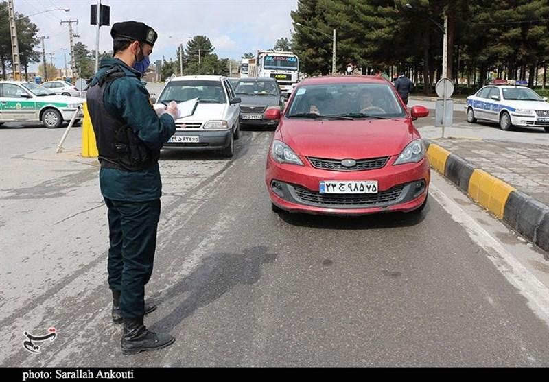 ممنوعیت تردد در ورودی و خروجی شهر کرمان به روایت تصویر