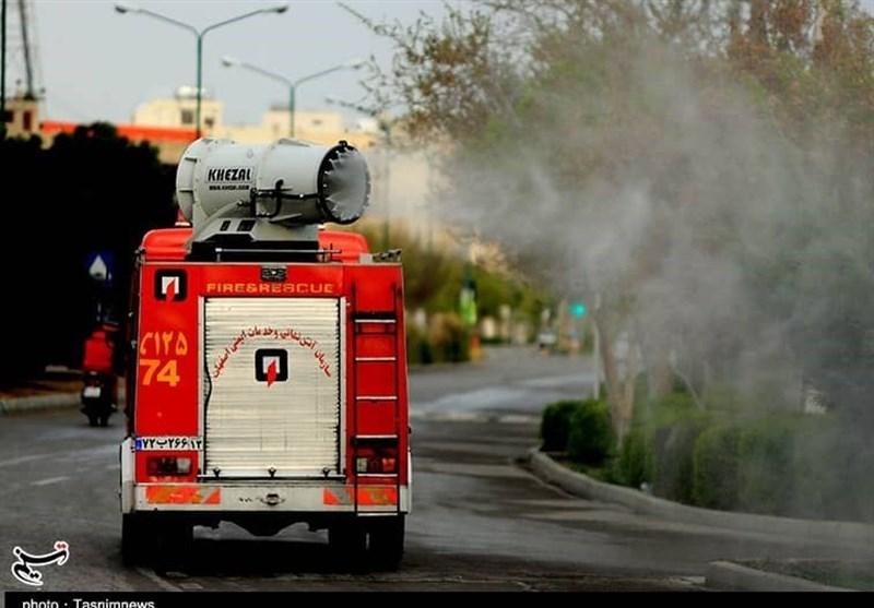 همه دستگاهها پای کار شکست کرونا؛ استفاده آتشنشانی اصفهان از توربوفن برای ضد عفونی معابر+ تصاویر