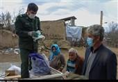 توزیع اقلام بهداشتی در مناطق عشایری جنوب استان اردبیل از نگاه دوربین