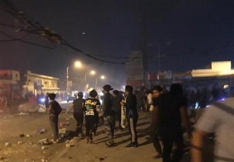 اعتراضات در «ذی قار» عراق به قانون منع آمد و شد مربوط به کرونا