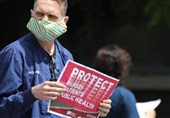 California Medical Workers Protest Hospital's Restrictions on Mask Use (+Video)