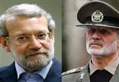 تماس تلفنی وزیر دفاع با لاریجانی