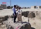 عواقب سیل بلوچستان| پیشروی حفرههای عمیق و تخریب خانههای روستائیان / «گرگروک» بلای جان سیستان و بلوچستان + فیلم