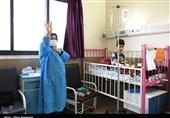 عیادت جوانان حشدالشعبی عراق از بیماران در قم به روایت تصویر