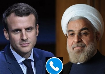 روحانی وماکرون یتحدثان هاتفیاً بشأن الوضع فی لبنان