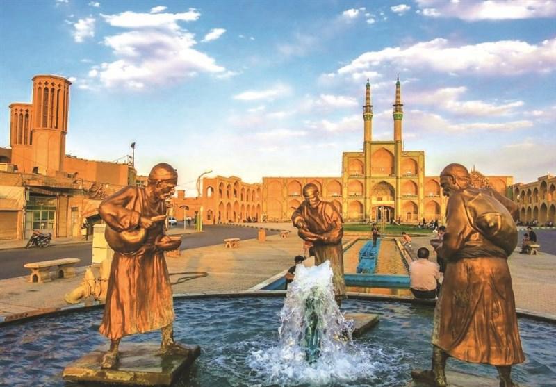 """میدان """"أمیر جخماق"""" فی یزد ..من روائع الفن المعماری الإیرانی + صور"""