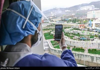 عملیات شادی آفرین بسیجیان قرارگاه جهادی شهید سلیمانی در بیمارستان کروناییها با رمز یا صاحبالزمان+عکس