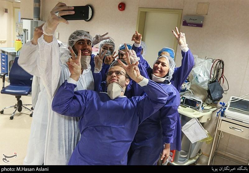 جشن میلاد امام زمان(عج) در بیمارستان کروناییها