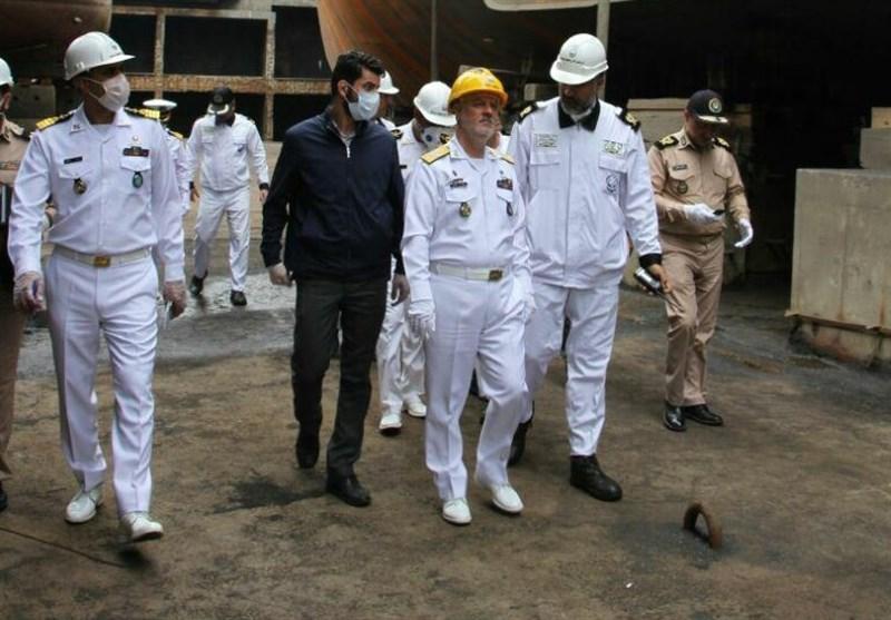 فرمانده نیروی دریایی ارتش از پروژه احداث بیمارستان خاتمالانبیاء(ص) نداجا در جنوب شرق بازدید کرد