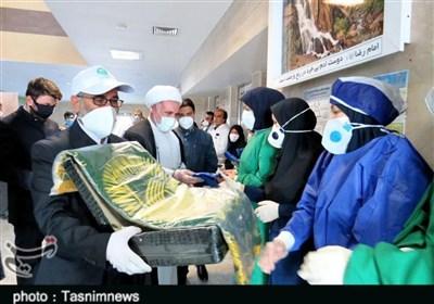 عطر رضوی در بیمارستان ولیان الیگودرز پیچید / قدردانی از زحمات مدافعان سلامت+تصاویر