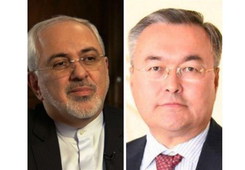 Iran, Kazakhstan FMs Discuss Coronavirus Battle