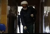 گزارش تسنیم از تغسیل اموات کرونایی توسط قرارگاه امیرالمومنین(ع) بسیج طلاب البرز+تصاویر
