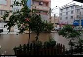 باران بهاری و آبگرفتگی معابر در زاهدان+تصاویر