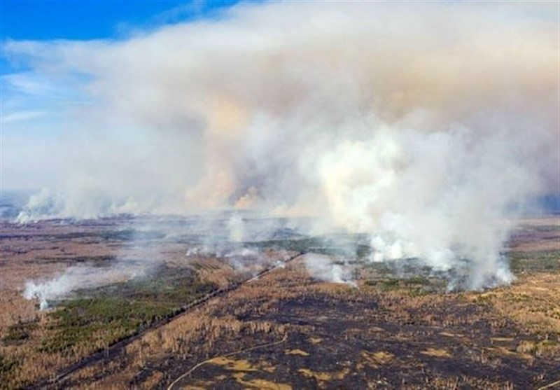 Ukraine Wildfires Creep Closer to Chernobyl