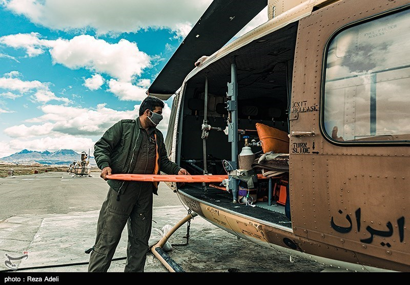 Army Choppers Taking Role in Operation to Put Out Wildfire in Southwest Iran