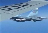 مقابله جنگنده روسیه با یک هواپیمای شناسایی آمریکا