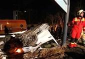 واژگونی مرگبار L90 در بزرگراه شهید همت + تصاویر