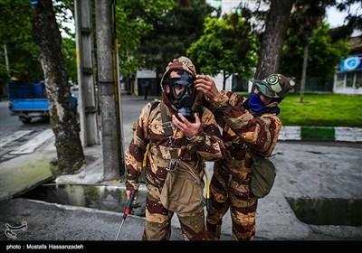 رزمایش خدمت ارتش در گرگان