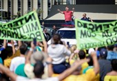 Brazil's Bolsonaro Joins Protest against Stay-at-Home Orders