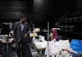 حضور معاون هنری وزیر در کارگاه تولید ماسک / قدردانی از هنرمندان و بنیاد رودکی
