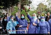 فیلم|در خط مقدم مبارزه با کرونا چه میگذرد؟/ روایتی از اشک و لبخند روزهای کرونا در بیمارستان شهدای تجریش