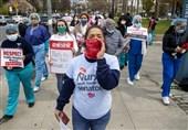 US Nurses Protest Working Conditions under Coronavirus