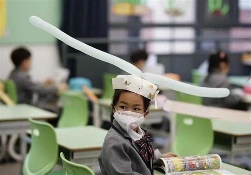راهکار جدید چینیها برای مبارزه با کرونا در مدارس+تصاویر
