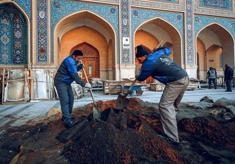 تصاویر// بهمناسبت روز کارگر؛ فعالیت کارگران ایرانی در عتبات عالیات