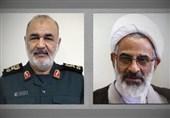 پیام مشترک نماینده ولی فقیه و سردار سلامی به مناسبت هفته عقیدتی سیاسی در سپاه