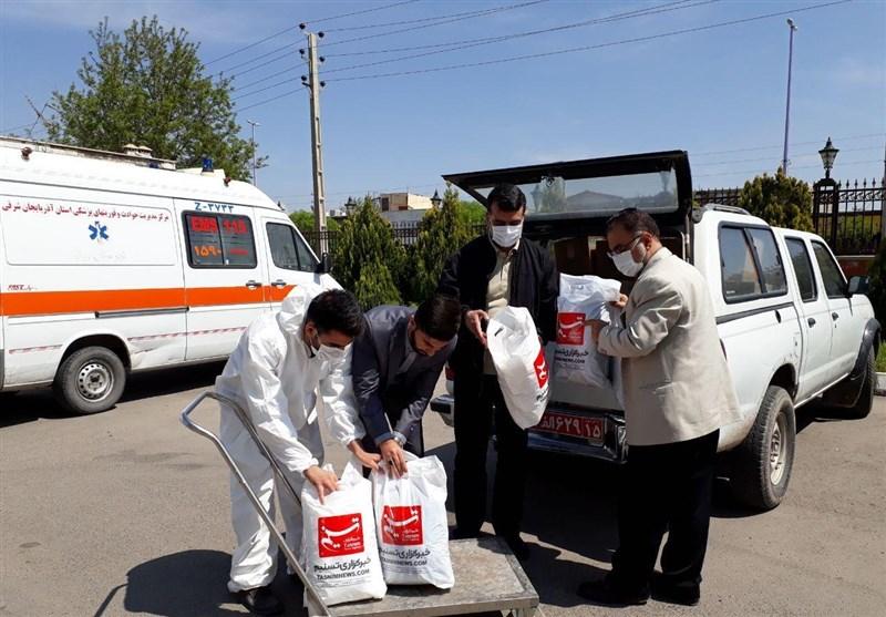 اهدای 3000 ماسک و مواد ضدعفونی توسط دفتر تسنیم به بیمارستان و آتشنشانی میانه+ تصویر